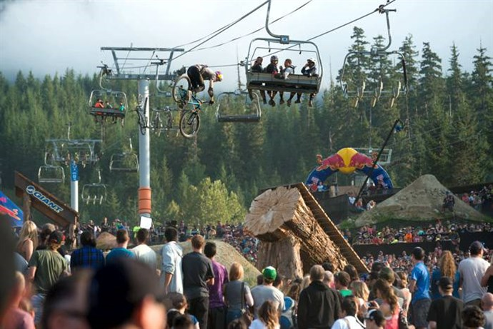 Crankworx Whistler Big Air Crowds 2