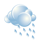 Mostly cloudy, milder; occasional morning rain and drizzle, then a shower in spots