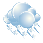 A bit of freezing rain in the afternoon; otherwise, cloudy